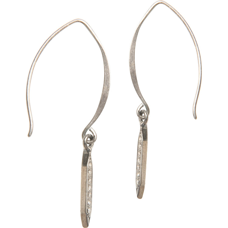 Everyday Diamond Spike Earrings--Small