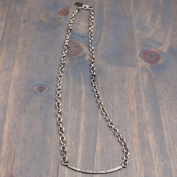 Sterling silver and diamond necklace