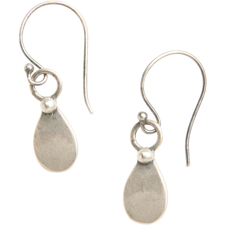Simple Sterling Teardrop Earrings