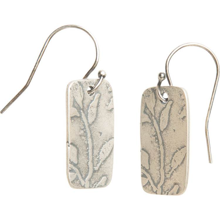 Desert spring rectangle drop earrings
