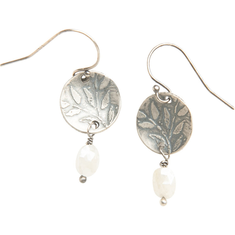 Desert spring and moonstone drop earrings