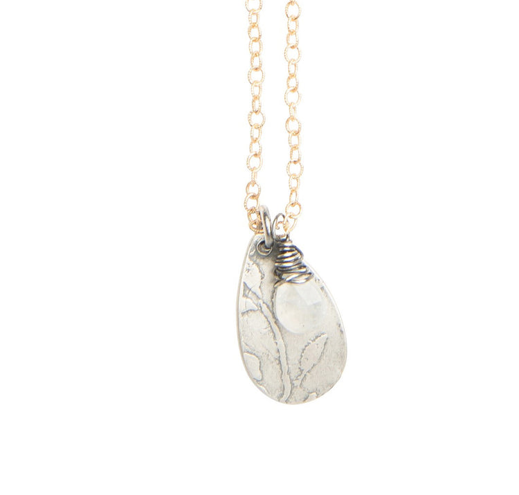 Desert spring drop necklace with moonstone