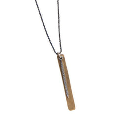 Everyday Diamond Long Spike Necklace on Black Diamond Cut Sterling Chain