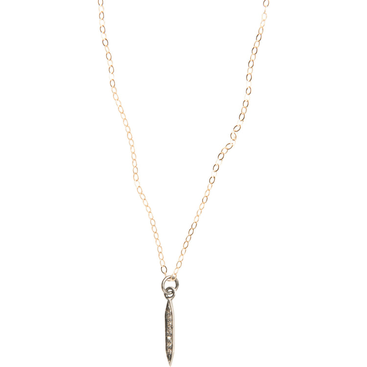 Everyday Diamond Mini Spike Necklace on Gold Chain