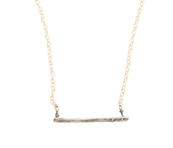 Organic Bar Necklace in Sterling Silver