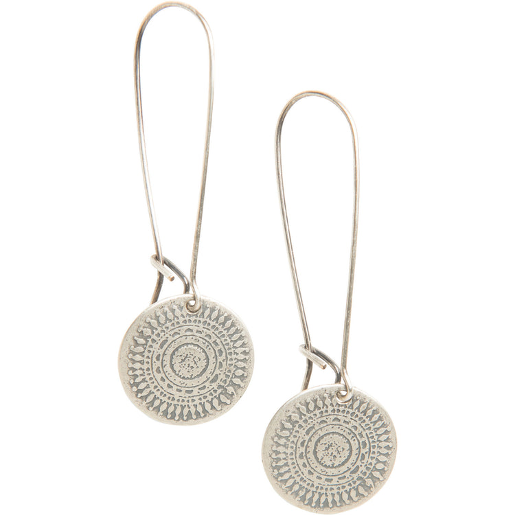 Wanderlust Drop Earrings in Sterling Silver