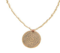 Wanderlust Necklace in Yellow Bronze