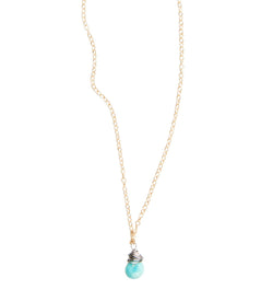 Sleeping Beauty Turquoise Drop Necklace