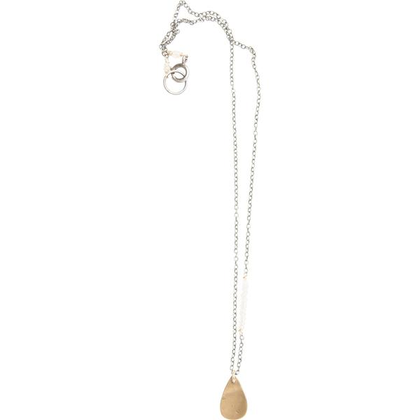 Moonstone Accent Necklace with Teardrop Charm