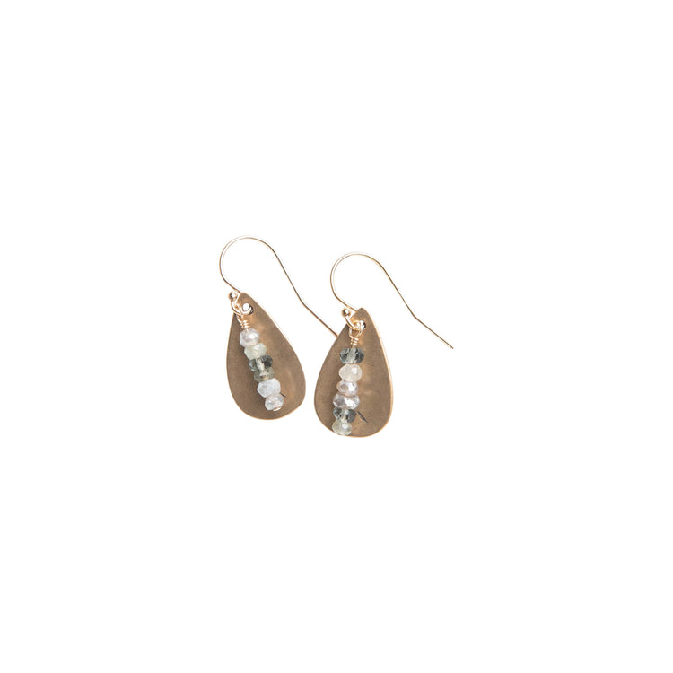 Pacific Coast Teardrop Earrings in Yellow Bronze