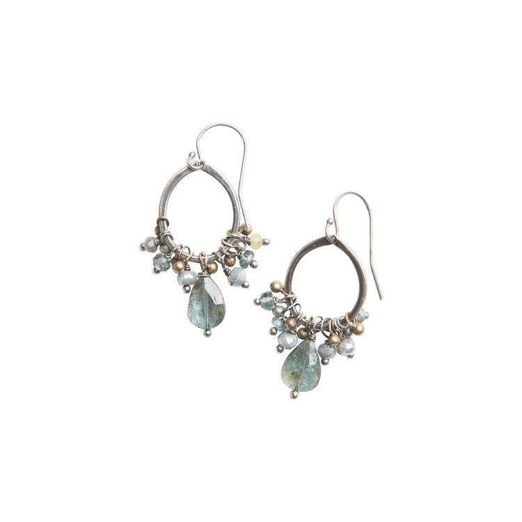 Pacific Coast Gemstone Cluster Earrings