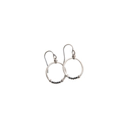 Gemstone Horseshoe Earrings in Sterling Silver