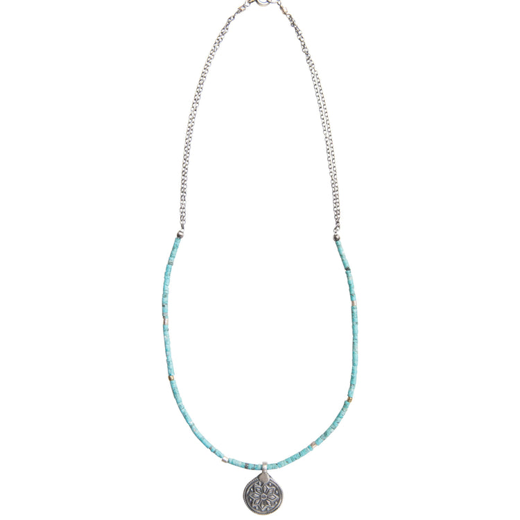 True North Turquoise Pendant Necklace