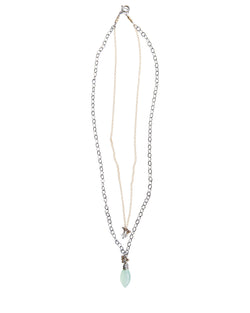 Double Strand Aqua Necklace