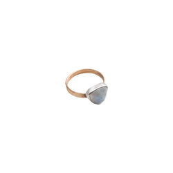 Moonstone Trillion Cut Ring