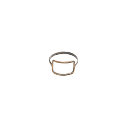 Yellow Bronze Horizontal Rectangle Ring