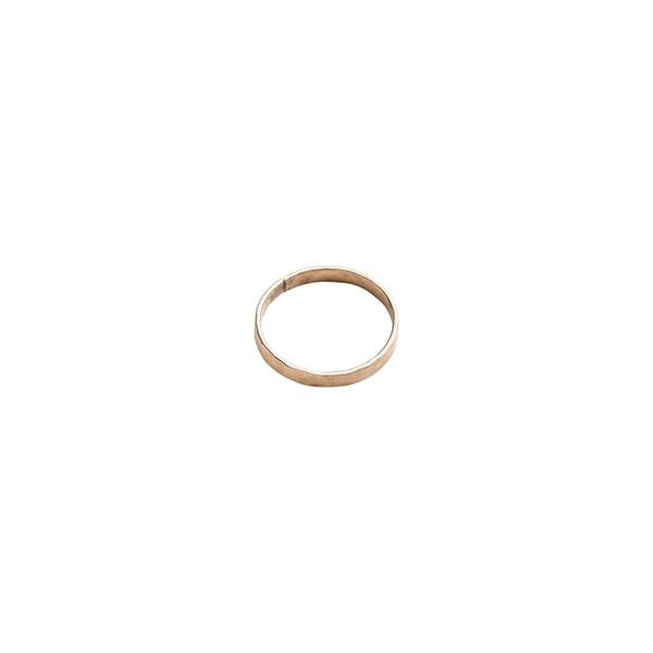 Single Gold Filled Hammered Stacking Ring