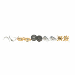 Petite Diamond Sun Stud Earrings