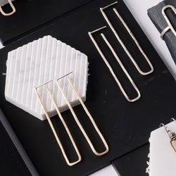 Long Open Rectangle Post Earrings