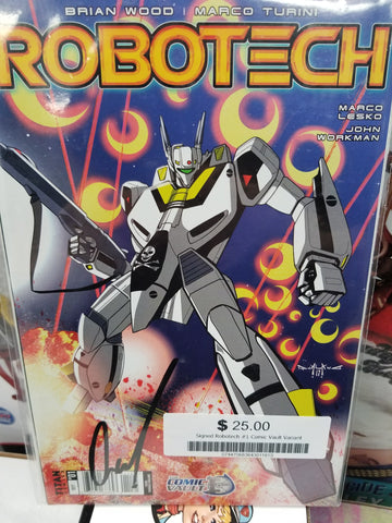 ROBOTECH #1 COMIC VAULT EXC PASQUALE QUALANO VARIANT (2017) SIGNED!