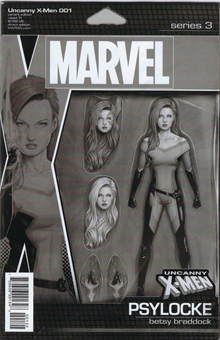 UNCANNY X-MEN #1 CHRISTOPHER ACTION FIGURE PARTY SKETCH VAR (2018)