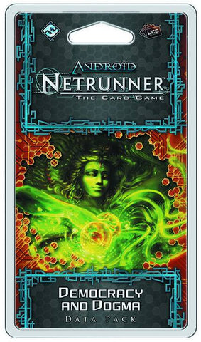 ANDROID NETRUNNER LCG DEMOCRACY AND DOGMA DATA PACK