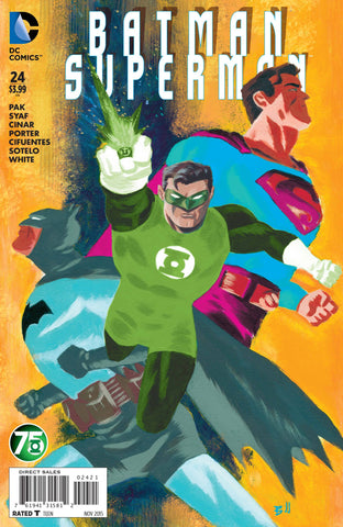 BATMAN SUPERMAN #24 GREEN LANTERN 75 VARIANT