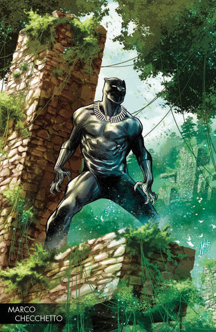 BLACK PANTHER #170 CHECCHETTO YOUNG GUNS VAR LEG WW (2018)
