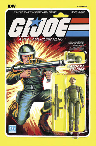 GI JOE A REAL AMERICAN HERO #220 SUBSCRIPTION VARIANT