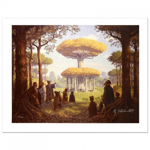 """Lothlorien"" Limited Edition 21x28 Giclee on Canvas Signed by Greg Hildebrandt"