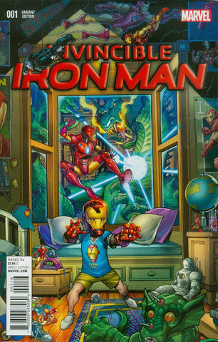 INVINCIBLE IRON MAN #1 BRADSHAW YOUNG GUNS VAR
