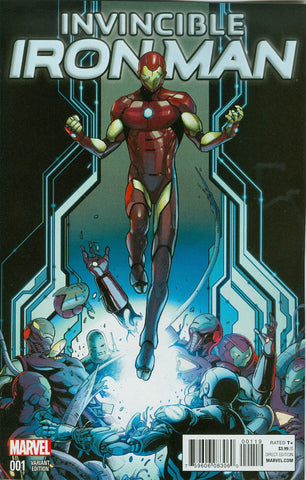 INVINCIBLE IRON MAN #1 SCHITI YOUNG GUNS VARIANT