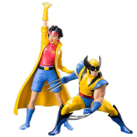 Marvel Universe X-Men 1992 Wolverine and Jubilee 2-Pack ARTFX+ Statue