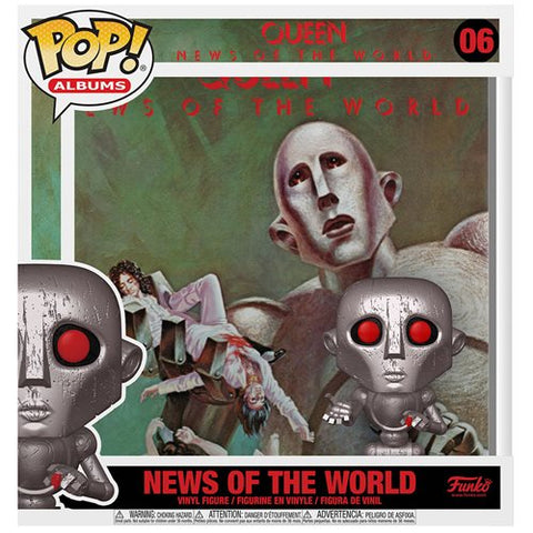 Queen News of the World Pop! Album Figure with Case