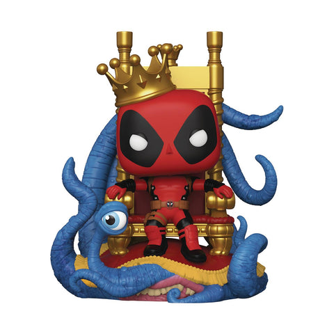 POP DELUXE MARVEL HEROES KING DEADPOOL ON THRONE PX VIN FIG
