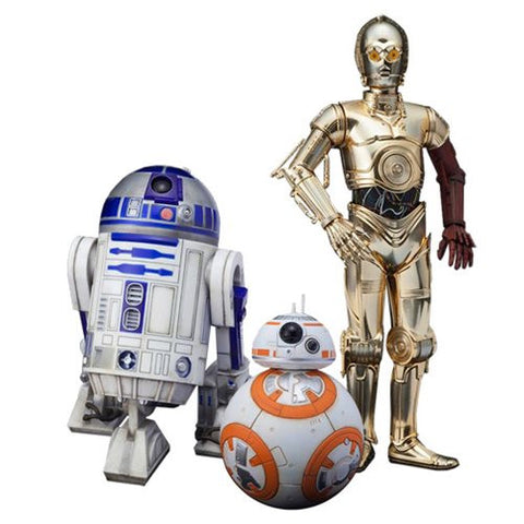 Star Wars: The Force Awakens C-3PO R2-D2 and BB-8 ArtFX+ Statue