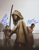 "Theshay West & Moses J. Moseley Signed ""The Walking Dead"" 8x10 Photo Inscribed ""Pet Walker"" (Legends COA)"