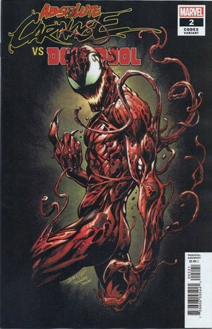 ABSOLUTE CARNAGE VS DEADPOOL #2 (OF 3) BAGLEY CODEX VAR AC (2019)