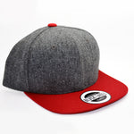 6P - GREY WOOL / RED BRIM