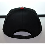 5P BLVCK / RED LEATHER BRIM