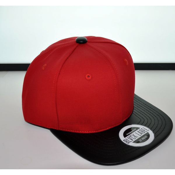 6P RED / BLVCK LEATHER BRIM