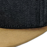 5P - BLACK DENIM / TAN