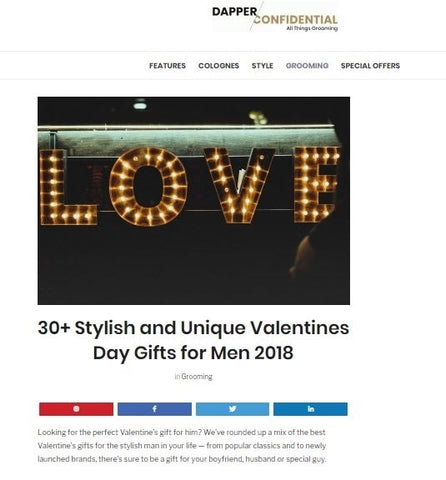 Dapper Confidential Unique Valentines Gifts for Men