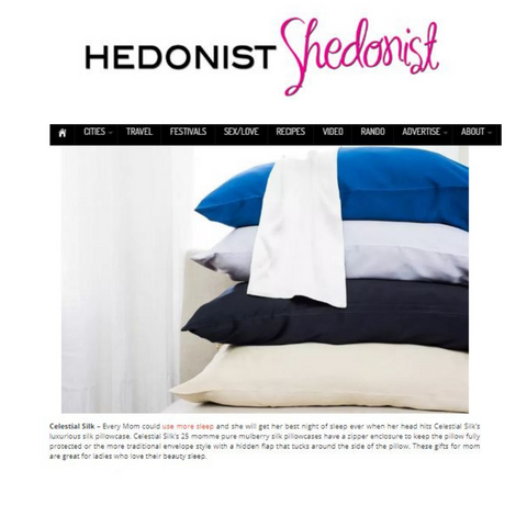 HedonistShedonist Gifts for Mothers Day Celestial Silk Pillowcase
