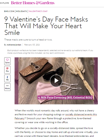 better homes and gardens features celestial silk face mask