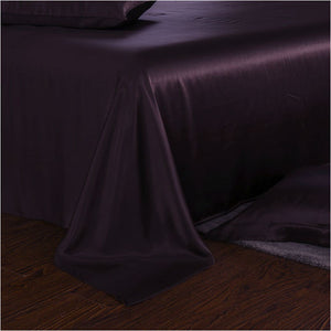 luxury silk sheets plum 25 momme silk sheet bed set