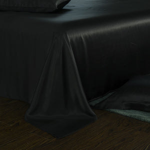 Black 25 Momme Silk Sheet Bed Set