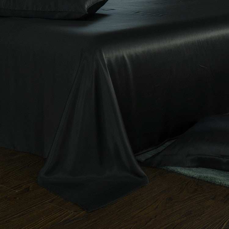 ... Luxury Black Silk Sheets 25 Momme