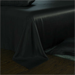 luxury silk bedding black silk sheets 25 momme