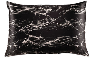 black marble silk pillowcase for hair and skin black marbled silk pilllow case